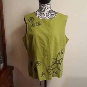 Ultra Dress New York line green top